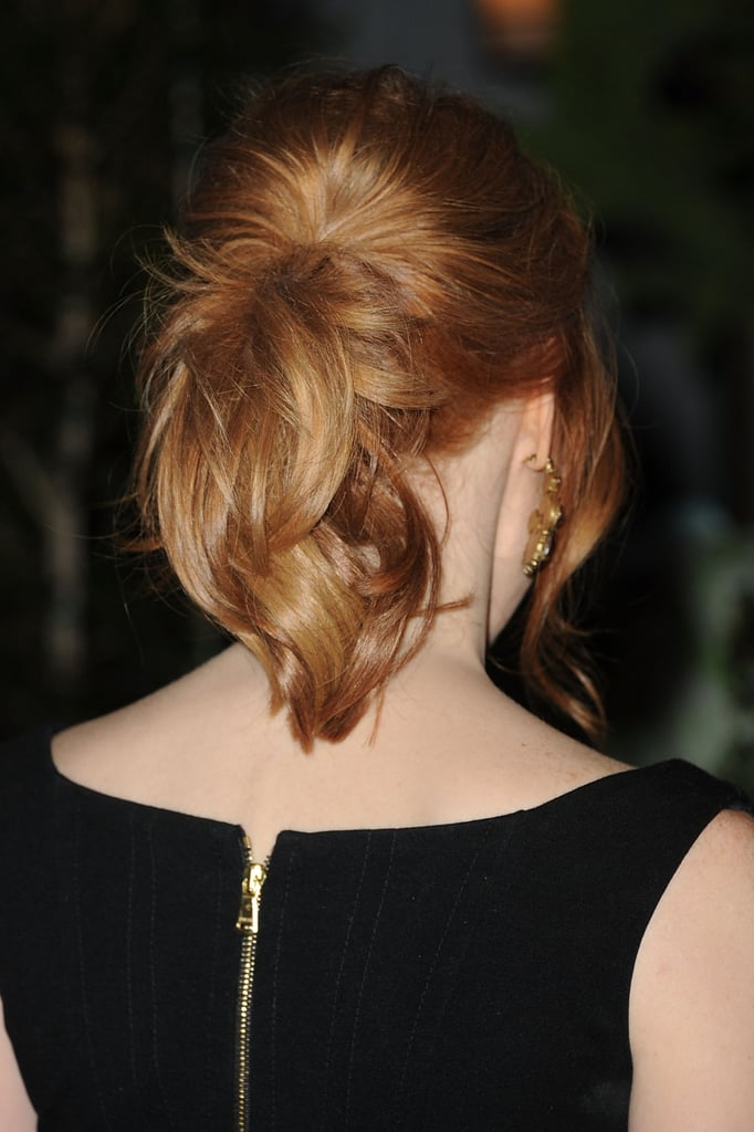 Jessica Chastain With Ponytail in 2011