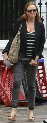 Stella McCartney Wears Stella McCartney Wedges in London