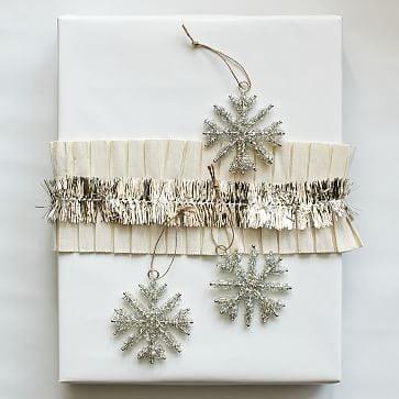 Tinsel Snowflake Ornaments