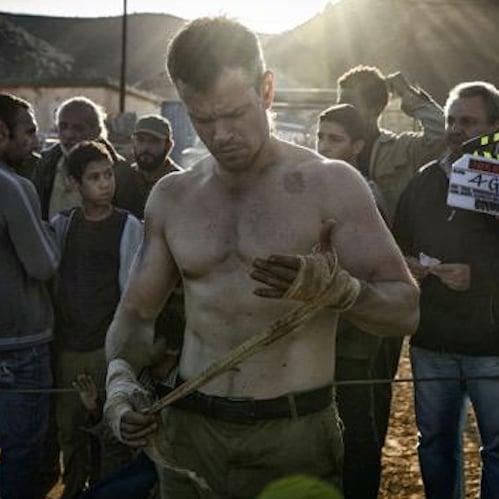 Matt Damon Shooting Bourne Movie 2015