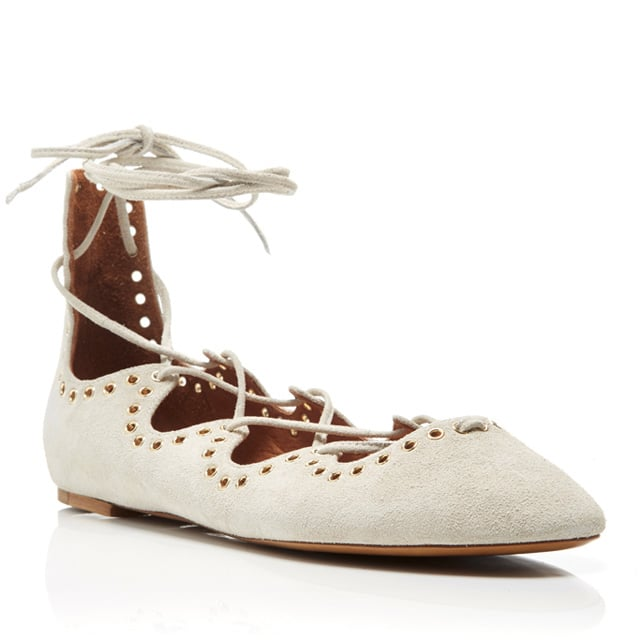 Isabel Marant Leo Leather Lace Up Flats ($510)