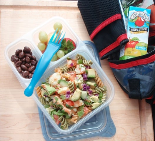 Avocado, Shrimp, and Pasta Salad