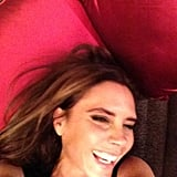 """David Beckham posted this sweet snap of his wife, Victoria, on Facebook, with the caption """"See I told you she smiles."""" Source: Facebook user David Beckham"""
