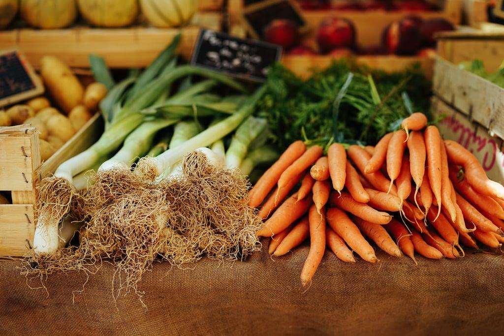 Go shopping at the farmer's market.