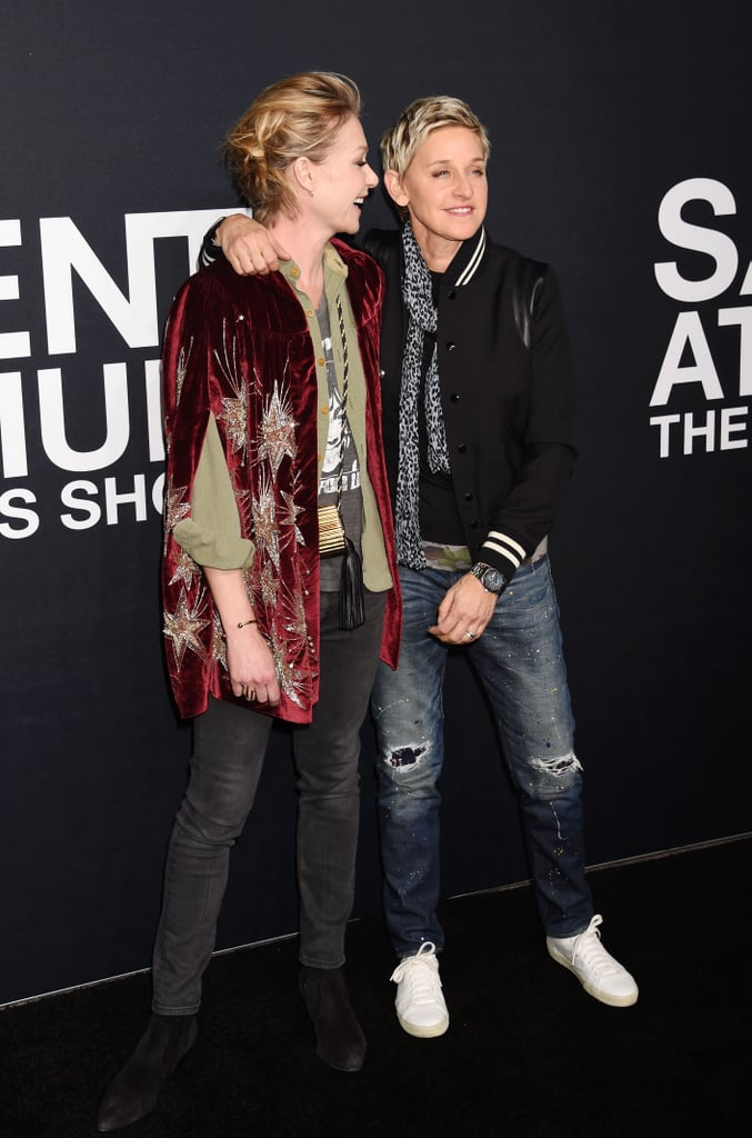 The two shared a laugh while attending a Saint Laurent show in LA in February 2016.