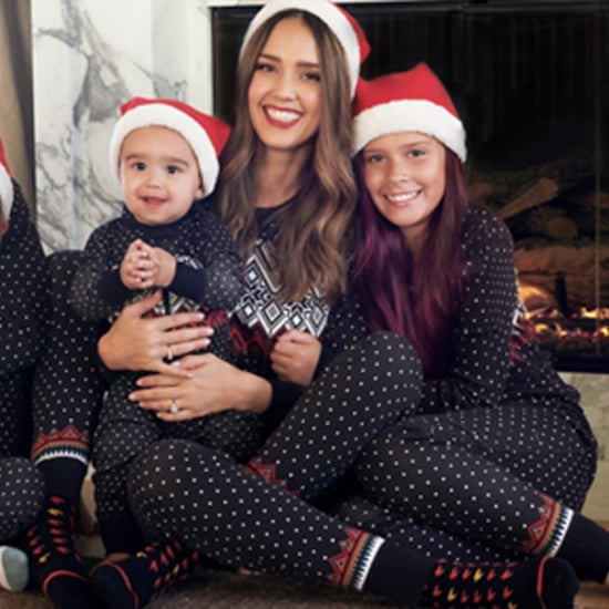 Jessica Alba and Cash Warren Family Holiday Card 2018