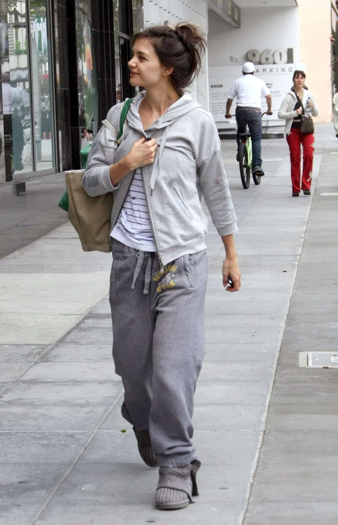 Katie Holmes Returns to the West Coast and Her Gym-Loving Ways