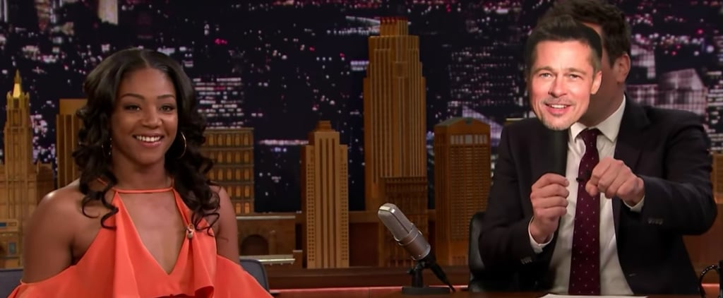 Tiffany Haddish Talks About Brad Pritt on Jimmy Fallon Video