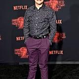 Gaten Matarazzo at Stranger Things Season 2 Premiere