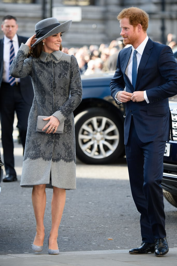 The pair dressed up and shared smirks as they attended a London Commonwealth Service in March 2016.