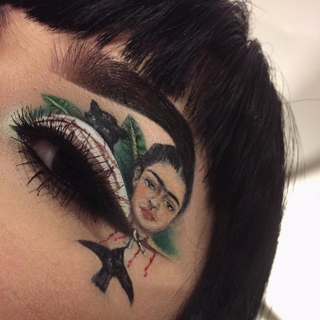 Frida Kahlo Eye Makeup Art