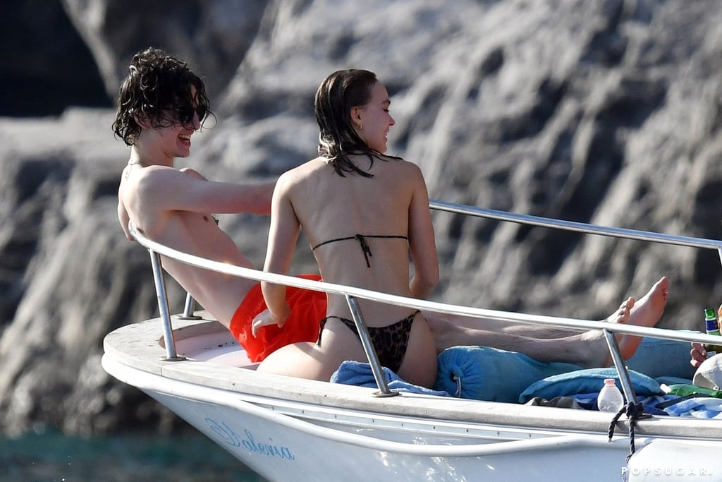 Timothée Chalamet and Lily-Rose Depp Kiss on Boat Pictures