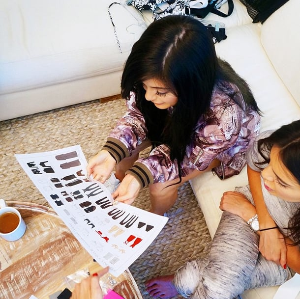 Kylie and Kendall Previewed a Line Sheet While Working on Their Collection