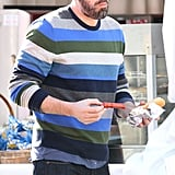 Ben Affleck ate a hot dog.