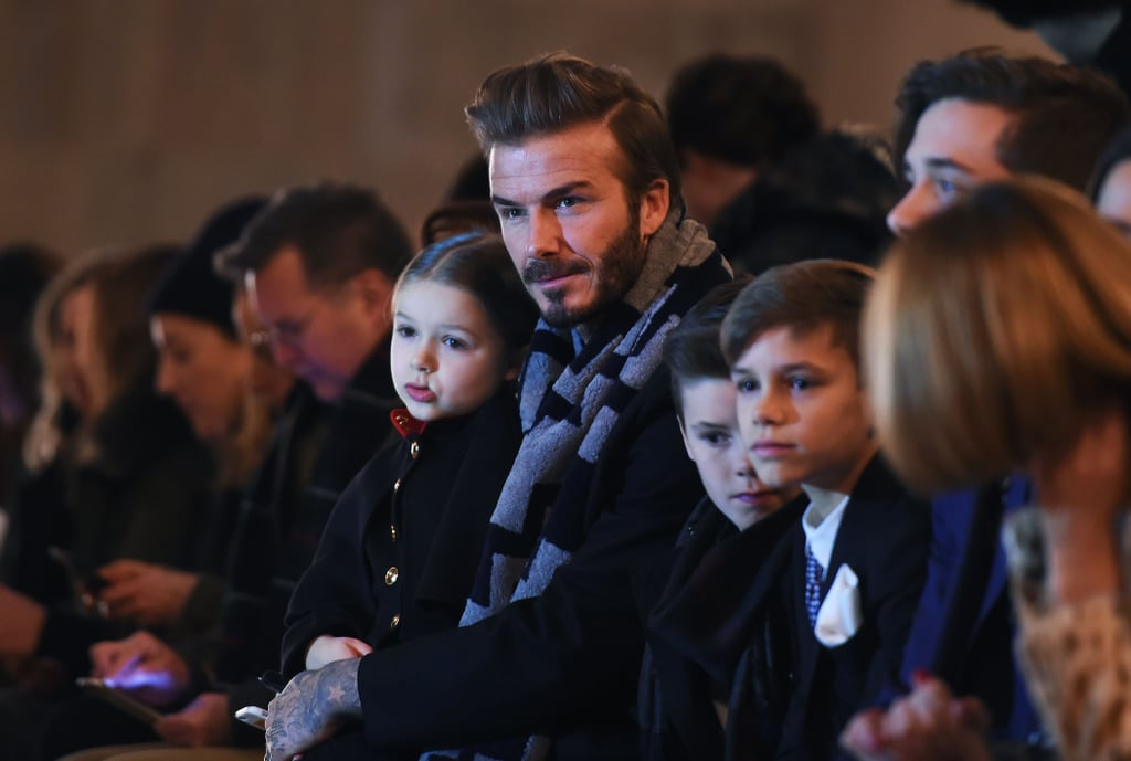 "Victoria Beckham had the support of her genetically blessed family at her New York Fashion Week runway show on Sunday. Victoria's husband, David Beckham, attentively looked on from the front row, as did her four children, Brooklyn, Romeo, Cruz, and Harper. During the show, both David and Brooklyn took to Instagram to share thoughtful messages for Victoria. David uploaded a clip from the show and wrote, ""So proud of another beautiful season ... @victoriabeckham."" Brooklyn's shout-out was just as touching and read, ""Congrats mum on another Amazing show. Love you."" Once the show was over, the brood stayed true to their family tradition and celebrated at French restaurant Balthazar in SoHo. Read on for more photos, and then in honor of Valentine's Day, look back at David and Victoria's sweetest moments together."