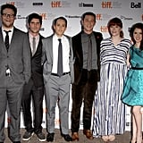 Seth Rogen, Will Reiser, Joseph Gordon-Levitt, Bryce Dallas Howard, and Anna Kendrick at the Toronto Film Festival premiere of 50/50.