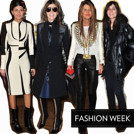 Celebrities and Fashion Editors Front Row at Stella McCartney's A/W 2012 Paris Fashion Week Show