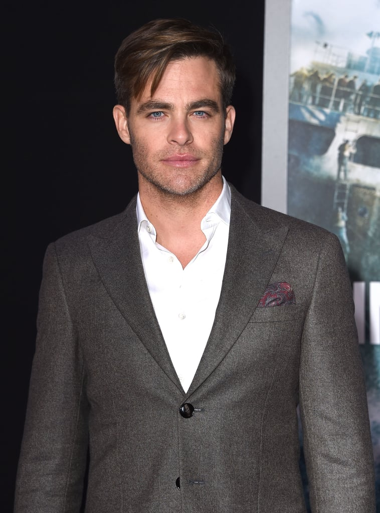 Chris Pine made a dashing appearance on the red carpet for the premiere of his new film, The Finest Hours, in LA on Monday night. The actor shared a laugh with his costars Holliday Grainger, Eric Bana, and Casey Affleck and also snapped selfies with sailors. Chris plays a ship captain in the Disney action-thriller, which follows the Coast Guard during the disastrous 1952 New England Nor'easter. Keep reading to see Chris in all his handsome glory, then check out 25 more snaps that prove he's the hottest Chris in Hollywood.