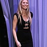 Gwyneth Paltrow Black Dress on Jimmy Fallon 2019