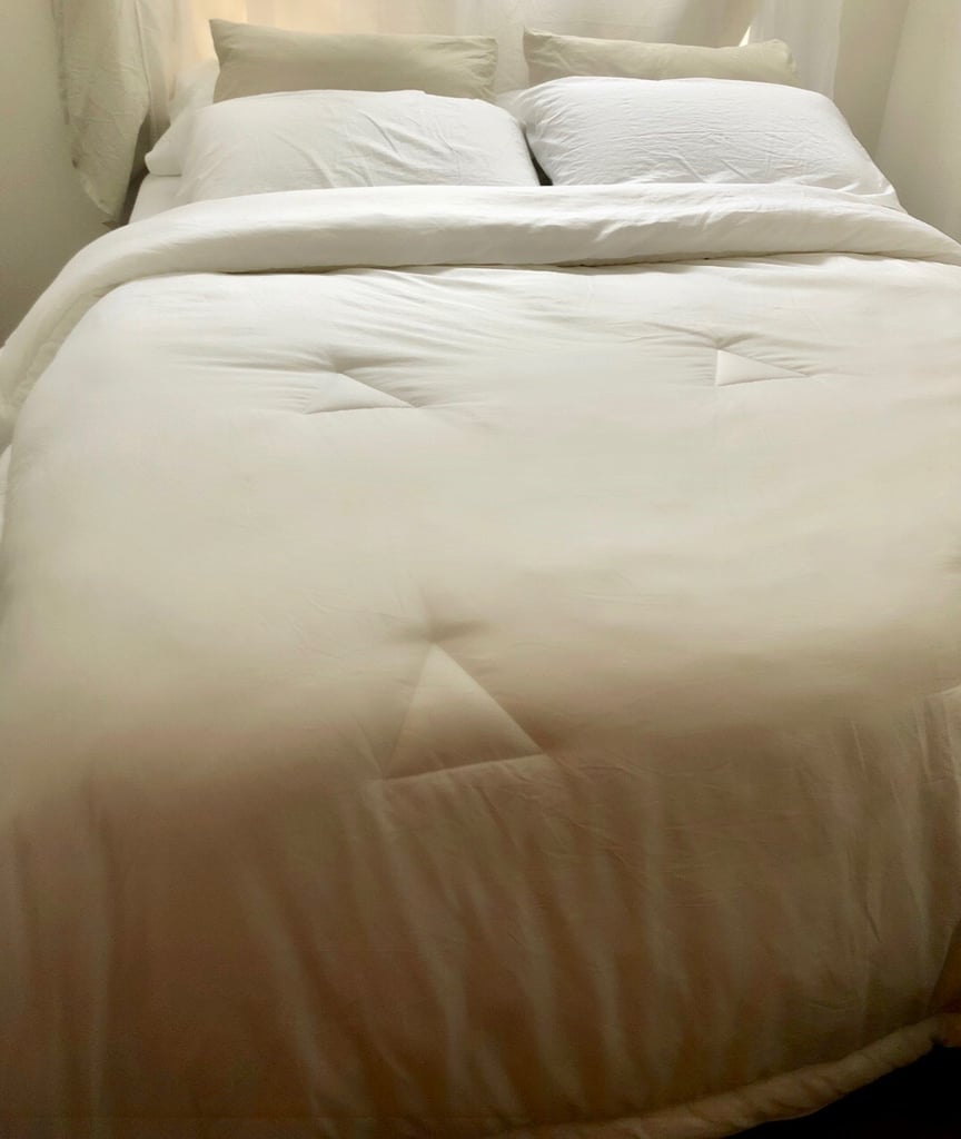 Buffy Comforter, Allswell Sheets, and Nectar Mattress
