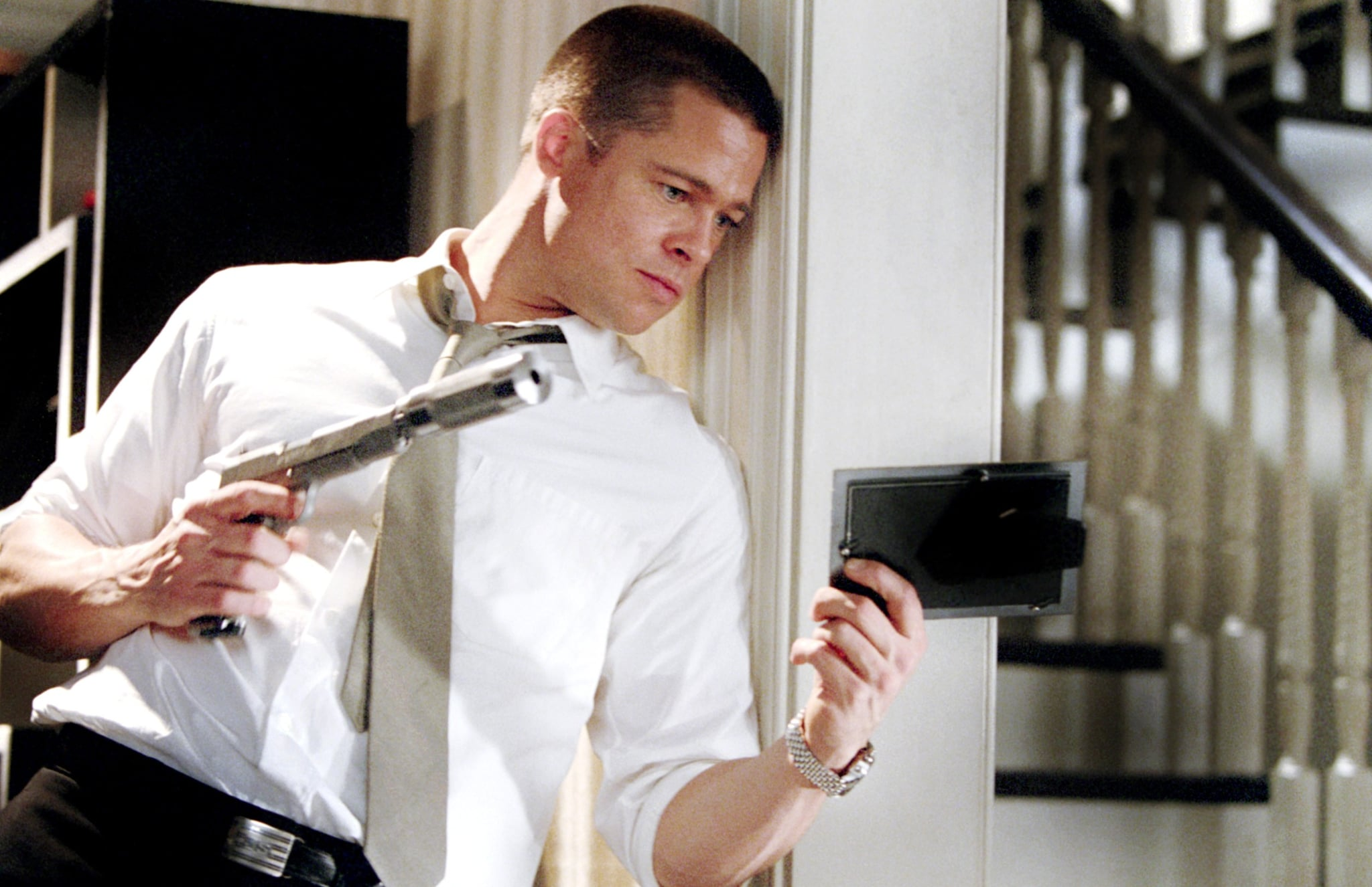 Mr Mrs Smith 2005 Brad Pitt Has Aged Like A Fine Wine On The Big Screen Popsugar Entertainment Photo 26