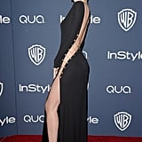 Miranda Kerr at the InStyle Golden Globes party.