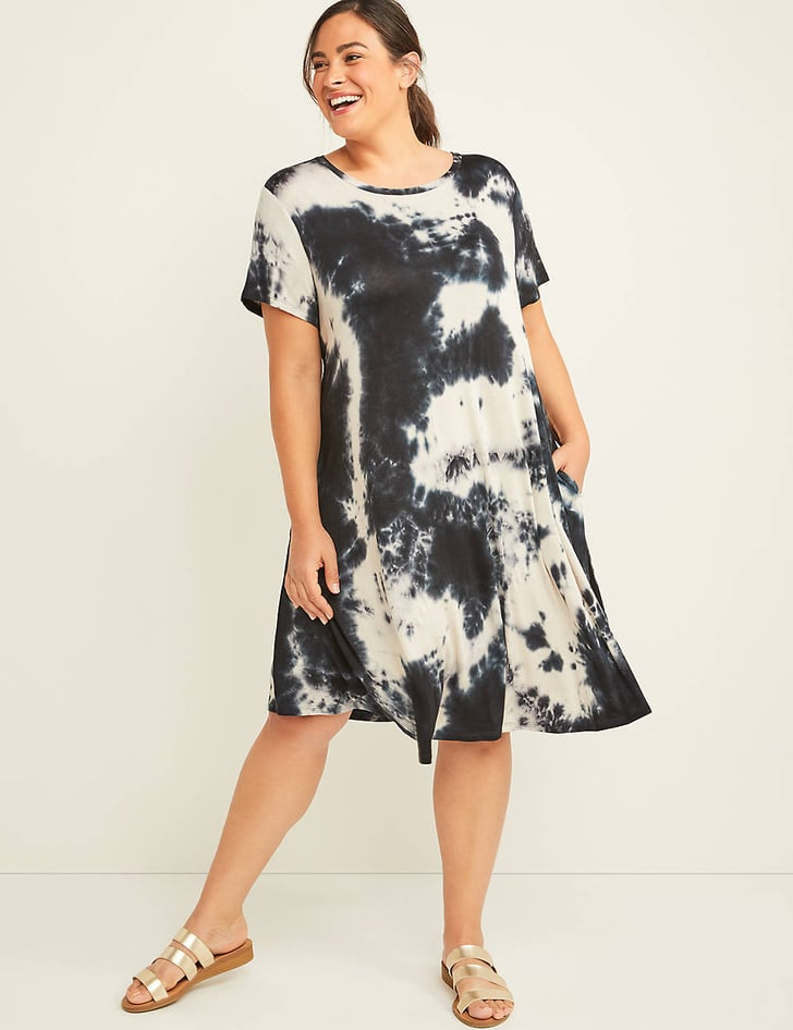 lane bryant tiedye swing dress  affordable trendy plus