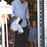 Ben Affleck held Seraphina's hand leaving a store in LA.