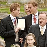They chatted between photos at Laura Parker Bowles's wedding in May 2006.
