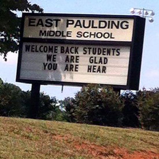School Sign Has Embarrassing Misspelling
