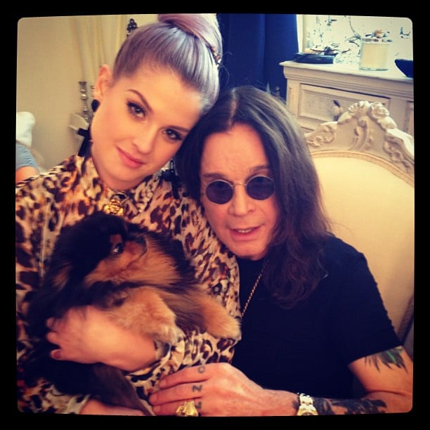 Kelly Osbourne spent time with her dog and her dad, Ozzy. Source: Instagram user kellyosbourne
