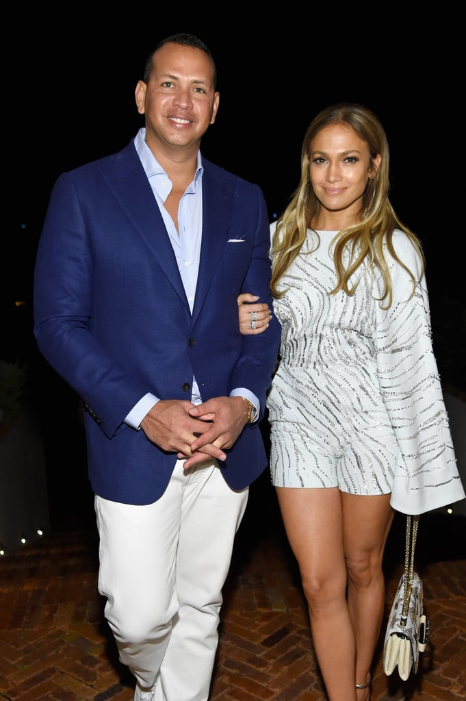 "Jennifer Lopez and Alex Rodriguez stepped out at the Apollo in the Hamptons in New York in outfits that said: ""We're here to party."" Alex looked handsome in his Summer suit, but all eyes were on J Lo and her stunning sparkly romper from Zuhair Murad. The 48-year-old rocked a chalk blue embroidered romper with kimono sleeves and a zebra print, which perfectly matched ARod's blue suit jacket and dress shirt. The very busy actress, singer, and producer paired her already eye-catching look with Giuseppe Zanotti silver sandals and a star-printed white bag.    The usually inseparable couple recently spent a few days away from each other with Alex in Miami promoting his new gym and Jennifer in New York City shooting season three of the hit NBC show Shades of Blue. Now that they are reunited, the lovebirds are spending time in one of their favorite beach spots.      If you're wishing you could get your hands on J Lo's romper, keep reading for some shopping options.      Related:                                                                                                           55 of Jennifer Lopez's Most Jaw-Dropping Outfits Through the Years"