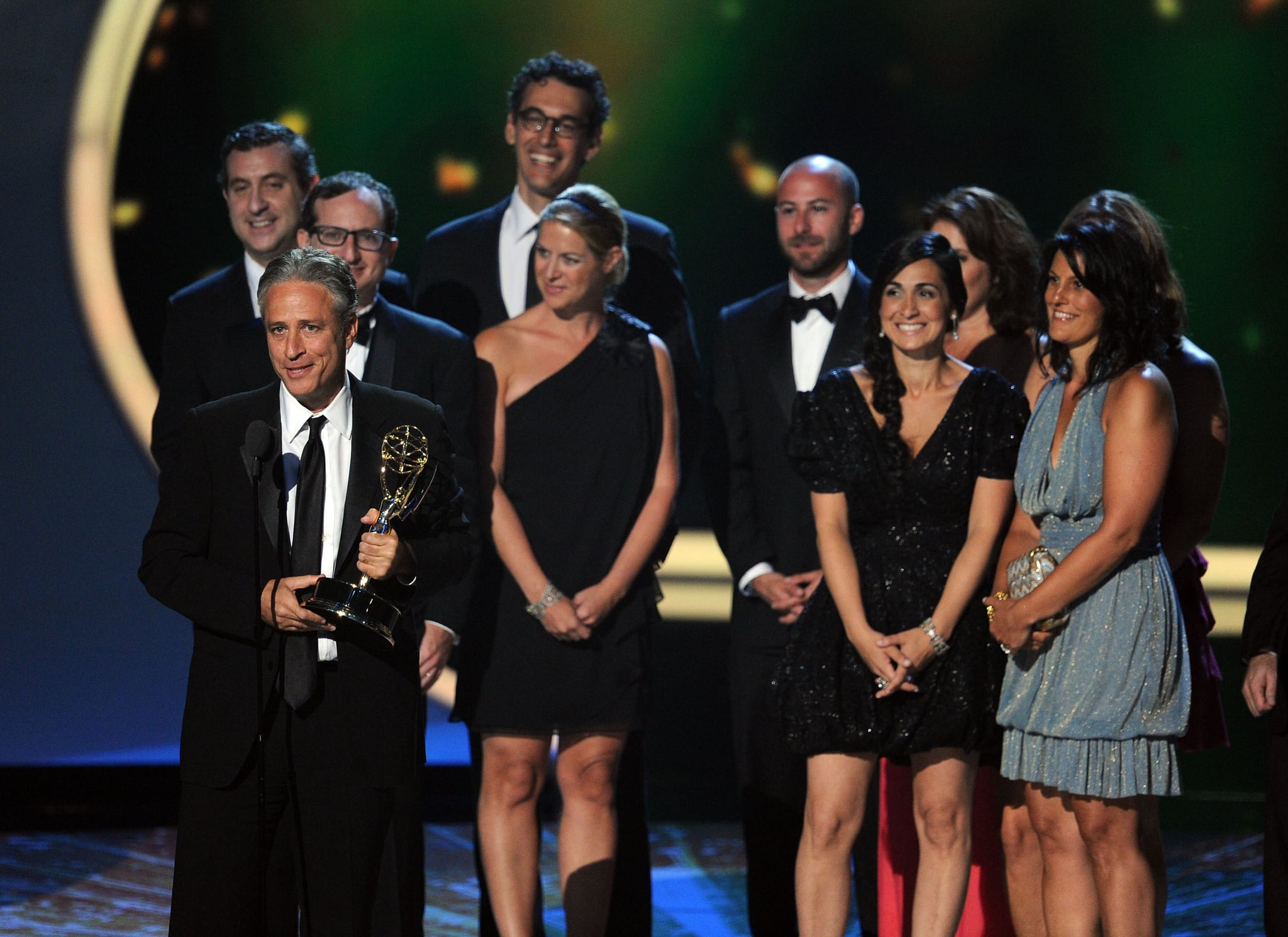 Jon Stewart accepted an Emmy.