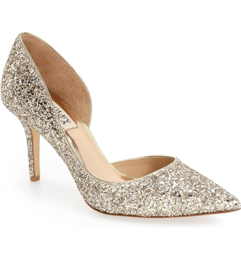Badgley Mischka 'Daisy' Embellished Pointy Toe Pump