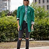 Who said you can't have it all? When it comes to the various style personalities you love, consider a tailored blazer, casual distressed skinny jeans, and edgy moto boots for a look that's sure to turn heads.