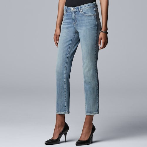 Simply Vera Vera Wang Power Stretch Straight-Leg Jeans
