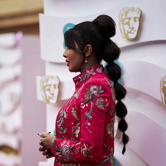 Priyanka Chopra's Bubble Braid Hairstyle at the BAFTA Awards