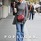 Katie Holmes looked relaxed in jeans.