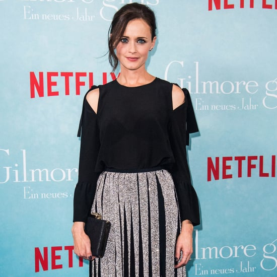 Alexis Bledel's Pleated Skirt Gilmore Girls Fan Event 2016