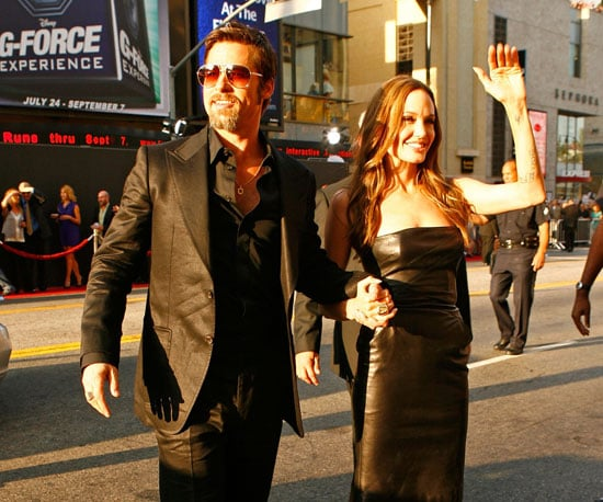 Slide Photo of Angelina Jolie and Brad Pitt at the Inglorious Basterds Premiere
