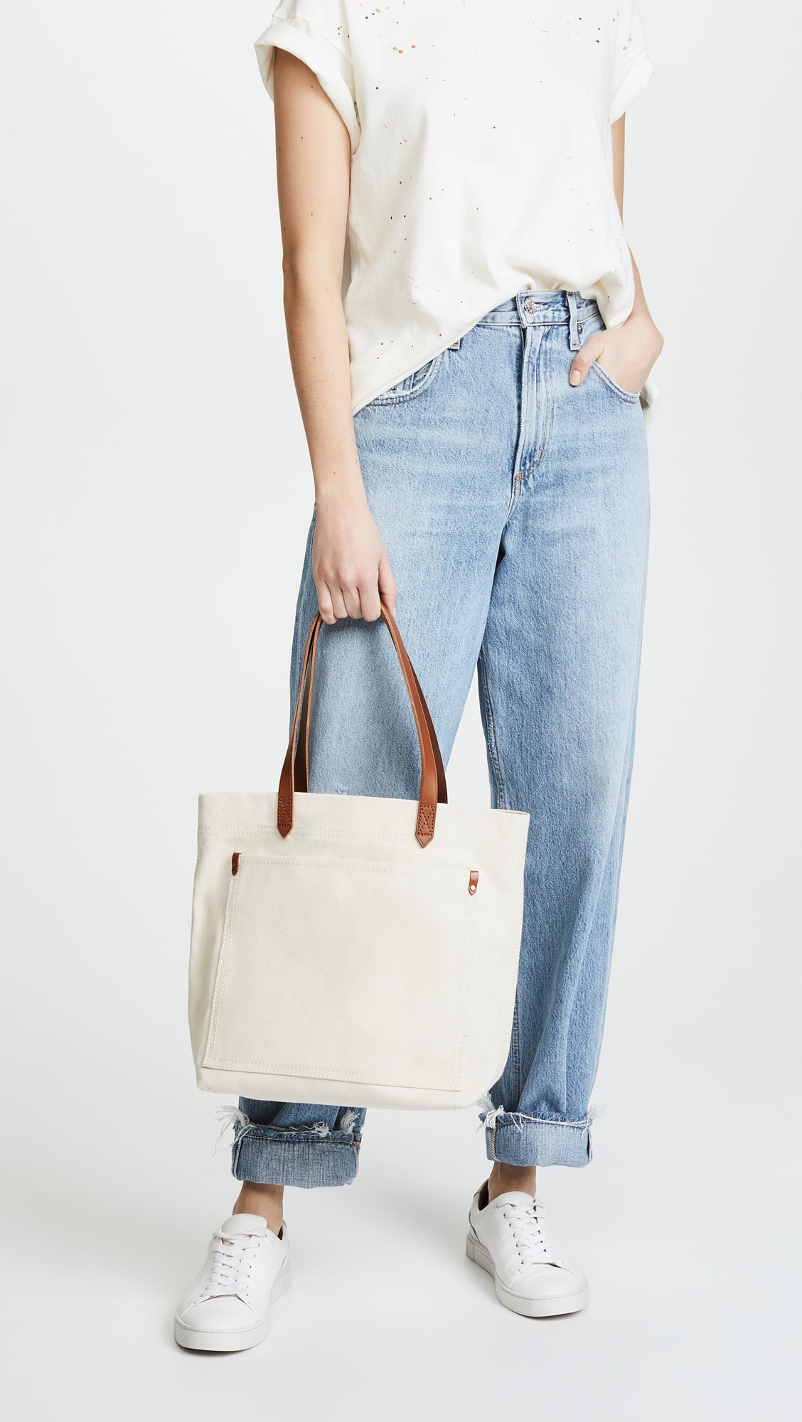 Madewell The Canvas Medium Transport Tote If You Re Grocery Shopping In 2020 Bring A Reusable Bag Popsugar Smart Living Photo 5