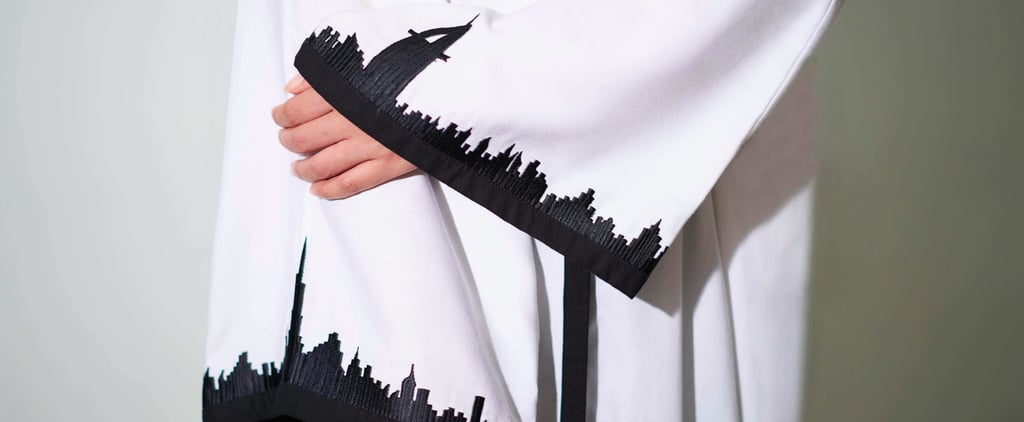 Emirati Designer Wears Dubai Skyline On Abaya Sleeves