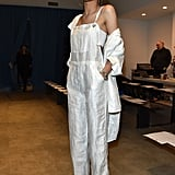 Zendaya skipped colour altogether and wore head-to-toe white during New York Fashion Week.