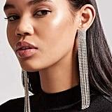 Forever 21 Rhinestone Duster Earrings
