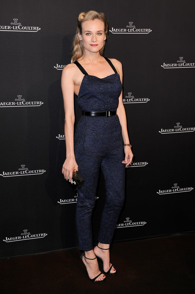 Diane Kruger Wearing Jason Wu at the Jaeger-LeCouture Place Vendome Boutique Opening in 2012