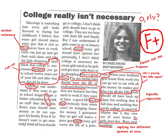 "Newspaper Editorial Argues That ""College Really Isn't Necessary"" For Women"