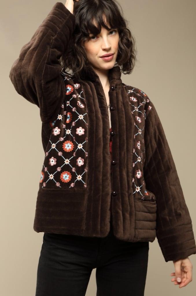 Rouje Augustine Velvet Coat ($271)