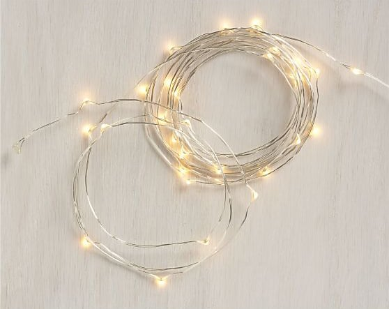 One clue that you're in a hipster home? Indoor string lights ($10). The metallic color and thin cords make these acceptable all year long, but it also helps that they're perfect for the holiday season.