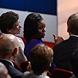 Michelle Obama at Presidential Debate 2012 | Pictures