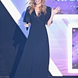 Nicole Richie took the stage in a gorgeous black maxi and a jeweled headpiece at the Halo Awards.